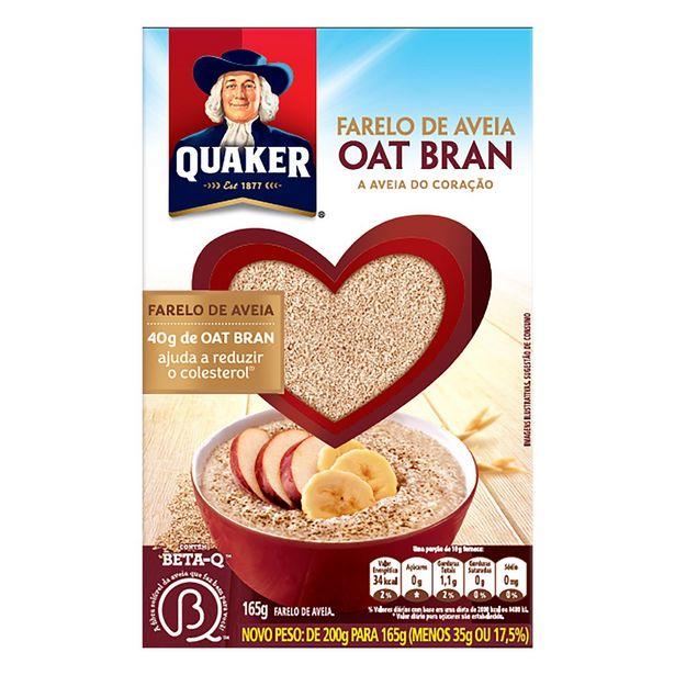 Oferta de Farelo de Aveia Quaker Oat Bran 165g por R$4,07