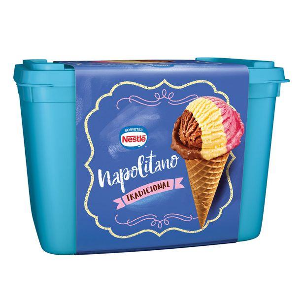 Oferta de Sorvete Napolitano Nestlé 1,5 Litros por R$17,49