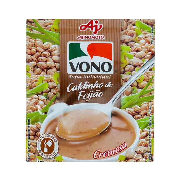 Oferta de Sopa de Caldinho de Feijão Cremosa Vono 18g por R$2