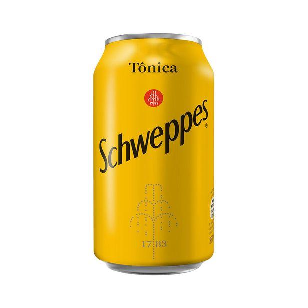 Oferta de Água Tônica Schweppes 350ml por R$2,45