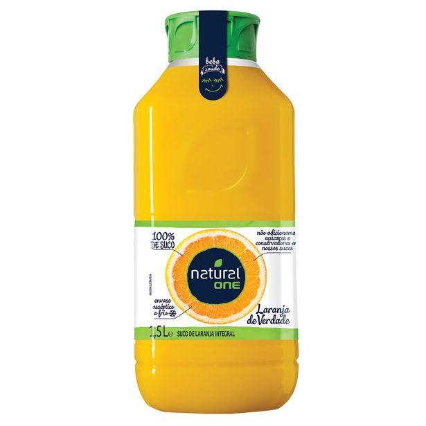 Oferta de Suco de Laranja Integral Refrigerado Natural One 100% Suco 1,5 Litros por R$16,19