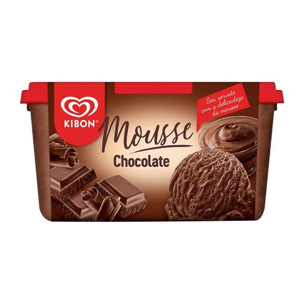 Oferta de Sorvete Mousse de Chocolate Kibon 1,3 Litros por R$19,29