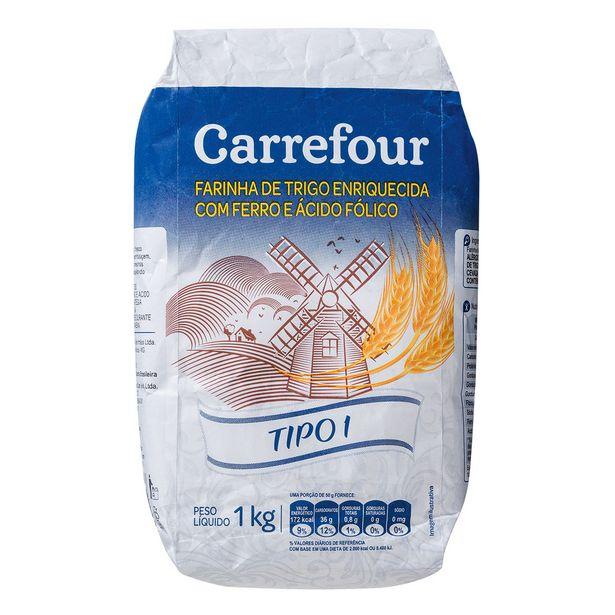Oferta de Farinha de Trigo Carrefour 1Kg por R$3,3