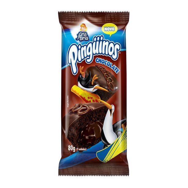 Oferta de Mini Bolo de Chocolate Ana Maria Pinguinos 80g por R$2,99