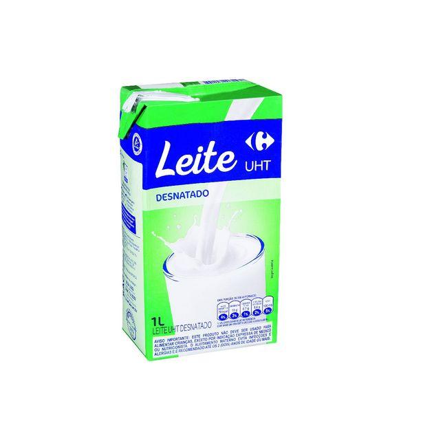 Oferta de Leite Desnatado UHT Carrefour 1 Litro por R$3,99