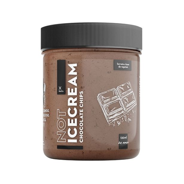 Oferta de Sorvete de Chocolate Chips IceCream NotCo sem Lactose Vegano 120ml por R$10,99