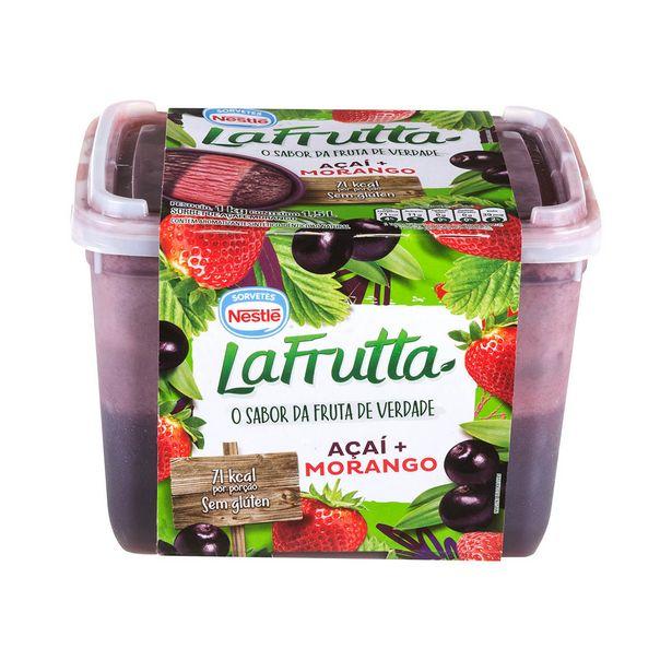 Oferta de Sorvete Açaí e Morango La Frutta Nestlé 1,5 Litros por R$14,99