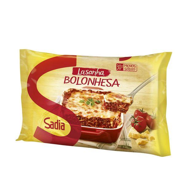 Oferta de Lasanha à Bolonhesa com Molho Vermelho Sadia 600g por R$13,6