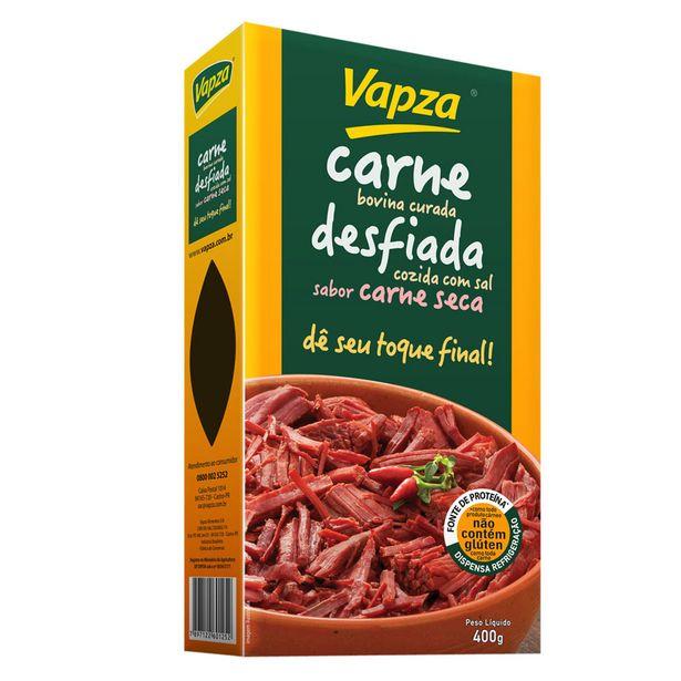 Oferta de Carne Bovina Desfiada Curada Vapza Dê seu Toque Final 400g por R$46