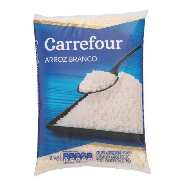 Oferta de Arroz Branco Longo-fino Tipo 1 Carrefour 2Kg por R$8,75