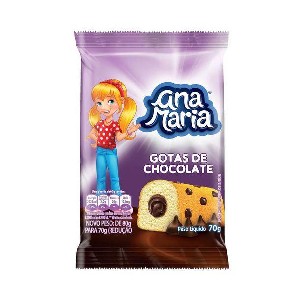 Oferta de Mini Bolo de Gotas de Chocolate Ana Maria 70g por R$2,99