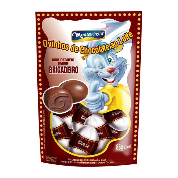 Oferta de Mini Ovos de Chocolate ao Leite com Recheio de Brigadeiro Montevergine 85g por R$3,77