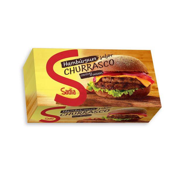 Oferta de Hambúrguer Bovino Congelado Sabor Churrasco Sadia 672g com 12 Unidades por R$17,95