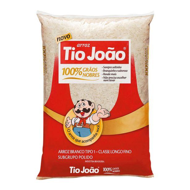 Oferta de Arroz Branco Longo-fino Tipo 1 Tio João 5 Kg por R$32,95