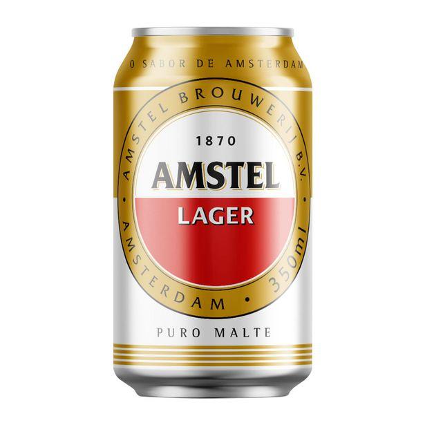 Oferta de Cerveja Amstel Pilsen Lager 350ml por R$2,75