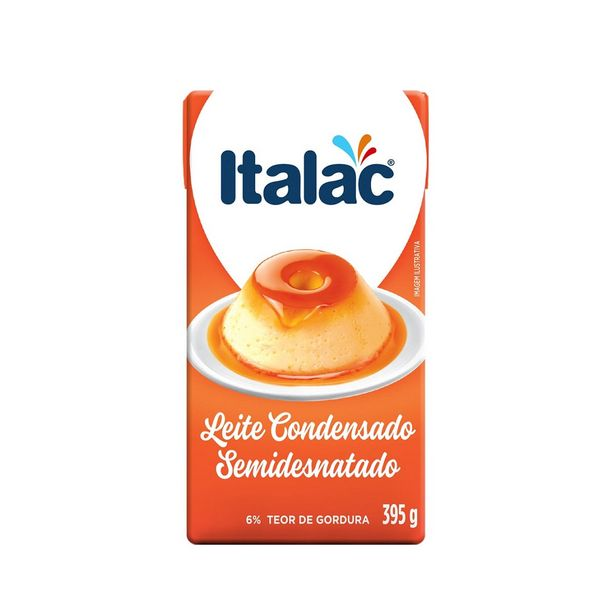Oferta de Leite Condensado Semidesnatado Italac 395g por R$5,45