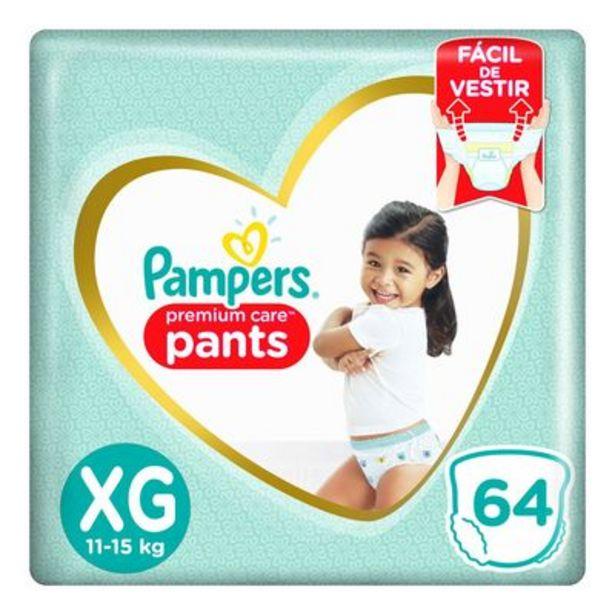 Oferta de Fralda Pampers Pants Premium Care XG 64 unidades por R$79,9