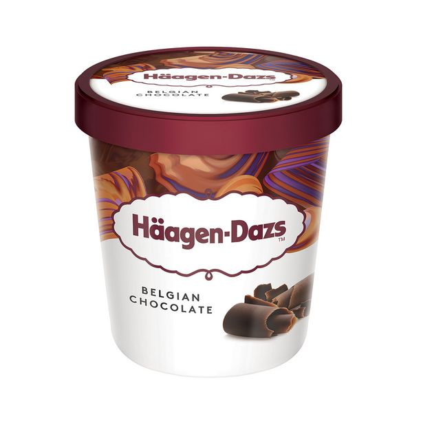 Oferta de Sorvete de Chocolate Belga Häagen-Dazs 473ml por R$40,5