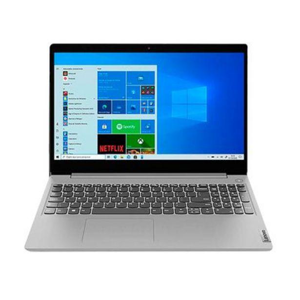 "Oferta de Notebook Lenovo Celeron 4GB 128GB SSD Tela 15,6"" Windows 10 IdeaPad 3i-15IGL 82BU0001BR Intel® Celeron® N4020 por R$2299"