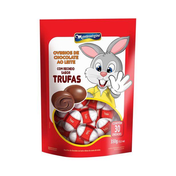 Oferta de Mini Ovos de Chocolate ao Leite com Recheio Sabor Trufas Montevergine 350g por R$14,21