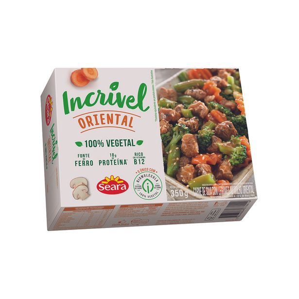 Oferta de Carne de Soja com Legumes ao Molho Oriental Seara Incrível 350g por R$12,99