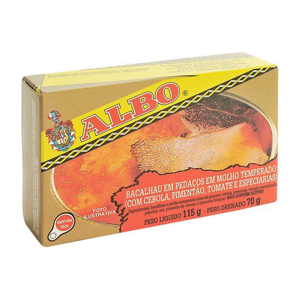 Oferta de Bacalhau Sólido com Molho Temperado Albo 115g por R$21,5