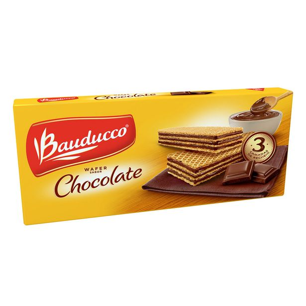Oferta de Wafer de Chocolate Bauducco 140g por R$2,6