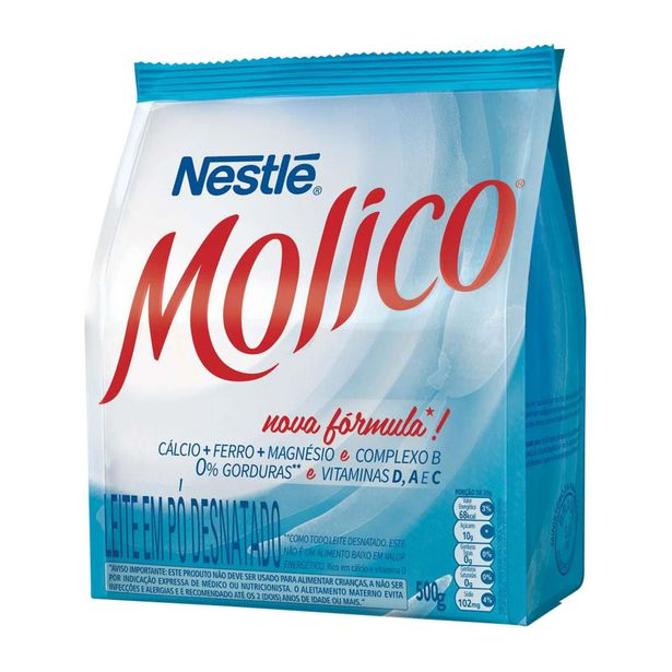 Oferta de Leite em Pó Desnatado Nestlé Molico 500g por R$27,5