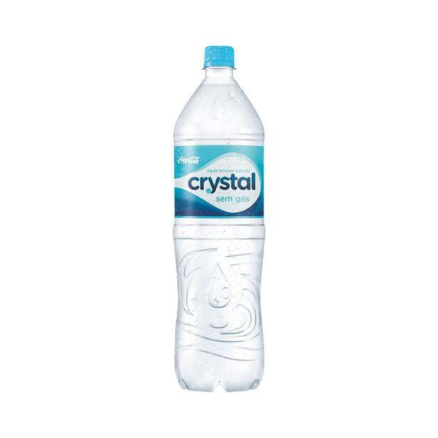 Oferta de Água Mineral sem Gás Crystal 1,5 Litros por R$2,5