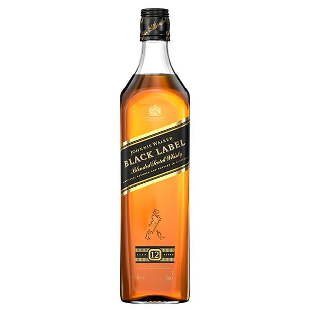 Oferta de Whisky Johnnie Walker Black Label 12 Anos 750 ml por R$81,9