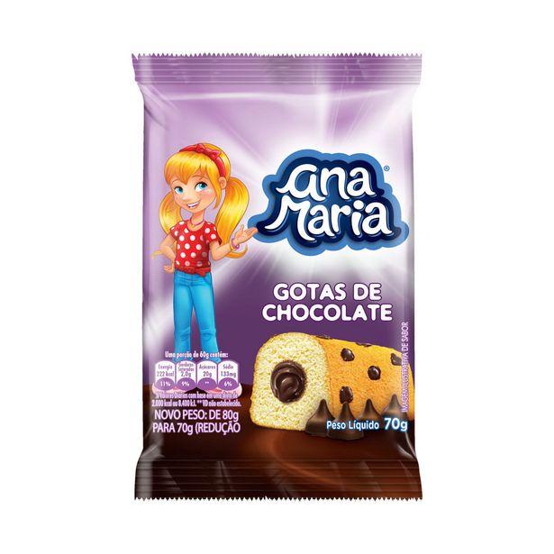 Oferta de Mini Bolo de Gotas de Chocolate Ana Maria 70g por R$2,95