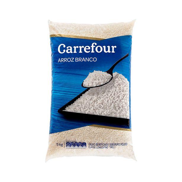 Oferta de Arroz Branco Carrefour 5Kg por R$26,5