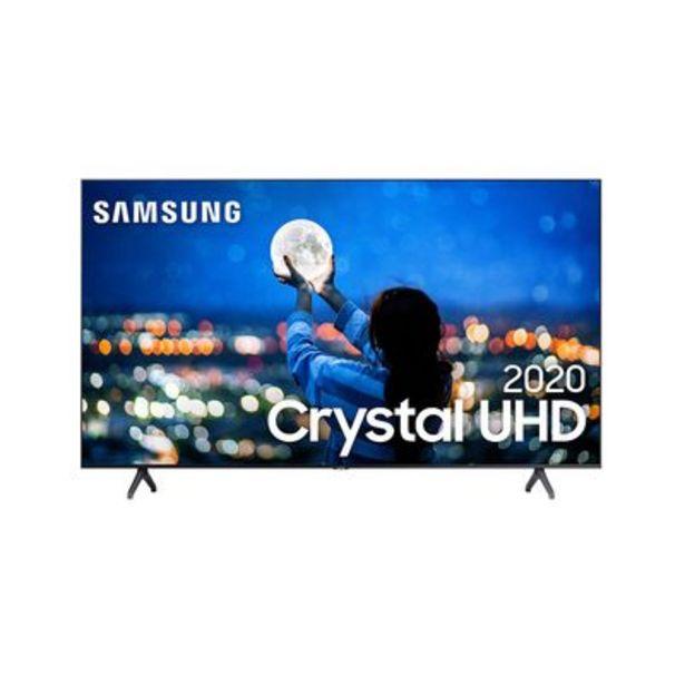 "Oferta de Samsung Smart TV 58"" Crystal UHD TU7020 4K, Wi-Fi, Bluetooth, Borda Infinita, Controle Único por R$3299"