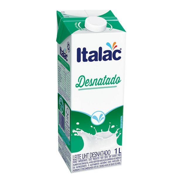 Oferta de Leite Desnatado UHT Italac 1 Litro por R$4,05