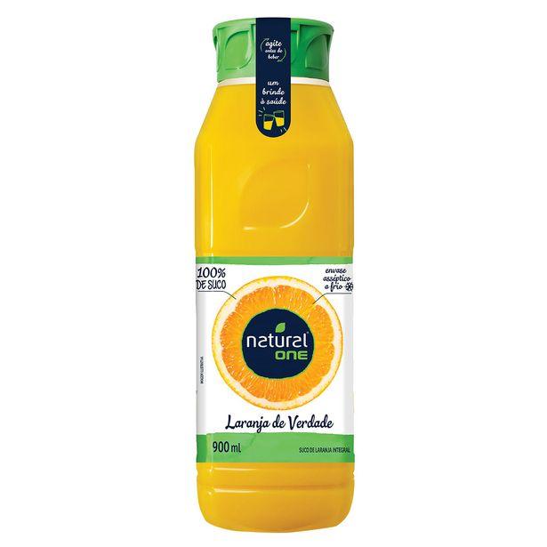 Oferta de Suco de Laranja Integral Refrigerado Natural One 100% Suco 900ml por R$8,65