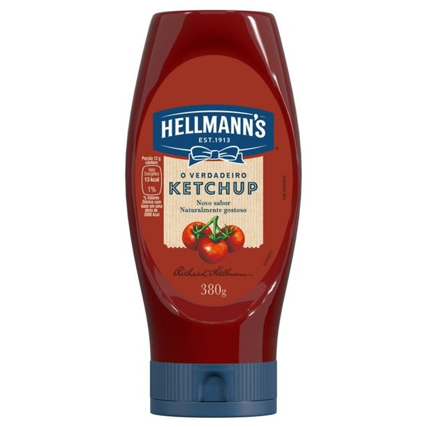 Oferta de Ketchup Hellmanns Tradicional 380 g por R$9,2