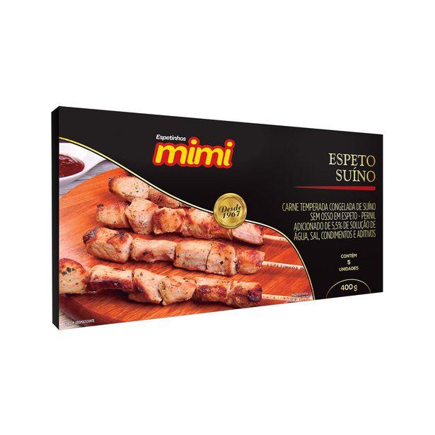 Oferta de Espeto Suíno Temperado Mimi 400g - 5 Unidades por R$14,99