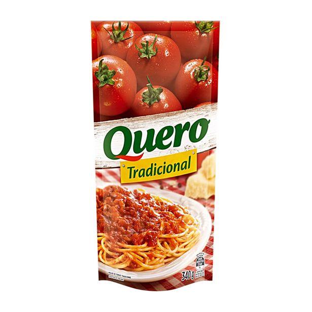 Oferta de Molho de Tomate Tradicional sem Pedaço de Tomate Quero 340g por R$1,55