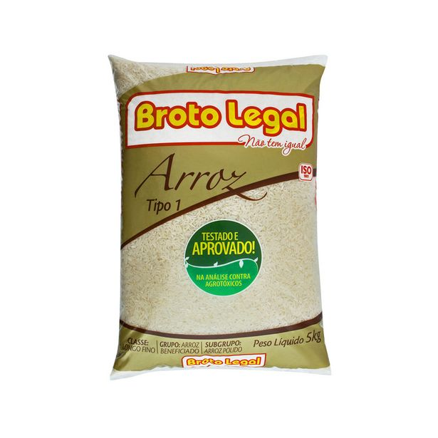 Oferta de Arroz Branco Longo-fino Tipo 1 Broto Legal 5 Kg por R$25,9