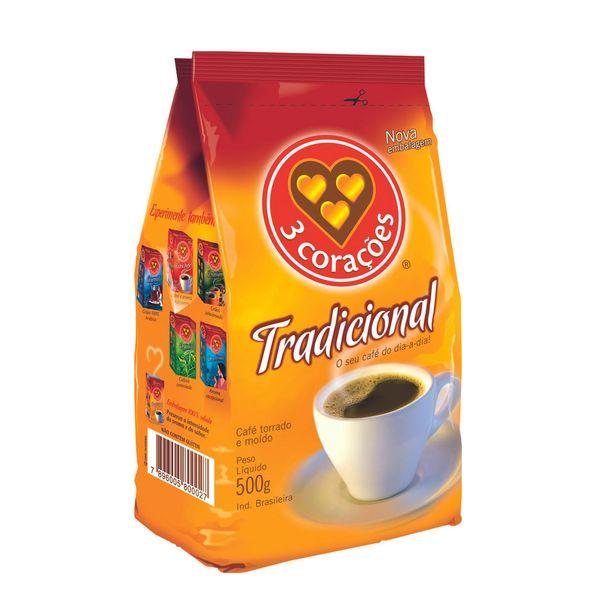 Oferta de Café em Pó 3 Corações 500g por R$11,09