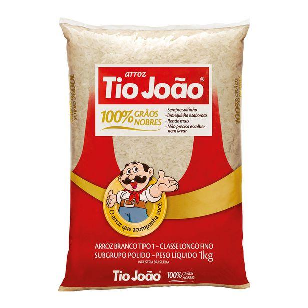 Oferta de Arroz Branco Longo-fino Tipo 1 Tio João 1 Kg por R$6,45