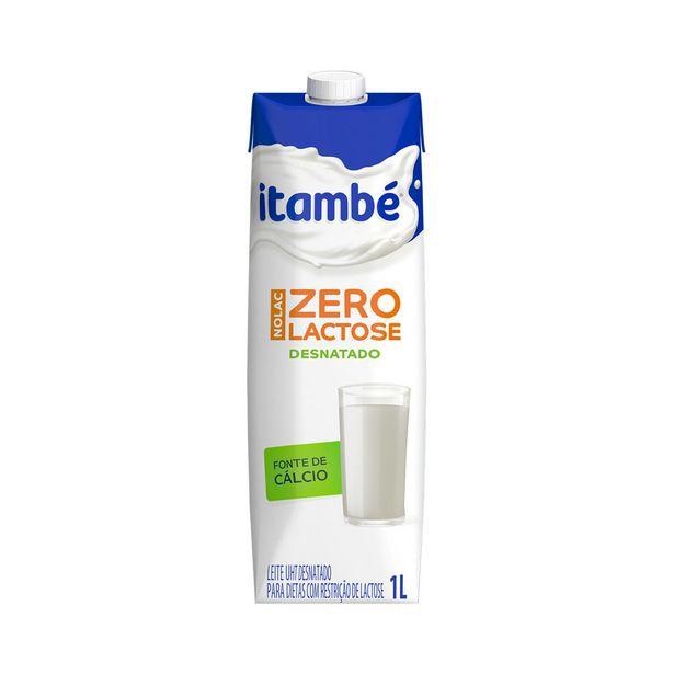 Oferta de Leite Desnatado sem Lactose UHT Tipo B Itambé Nolac 1 Litro por R$4,49