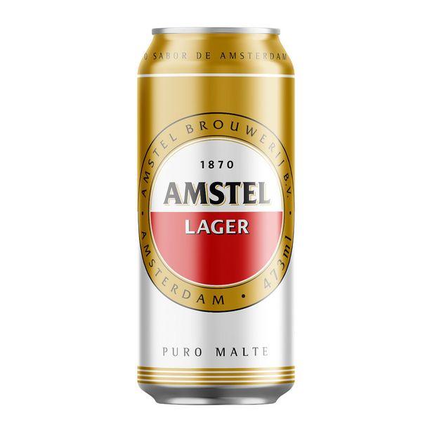 Oferta de Cerveja Amstel Pilsen Lager 473ml por R$3,79