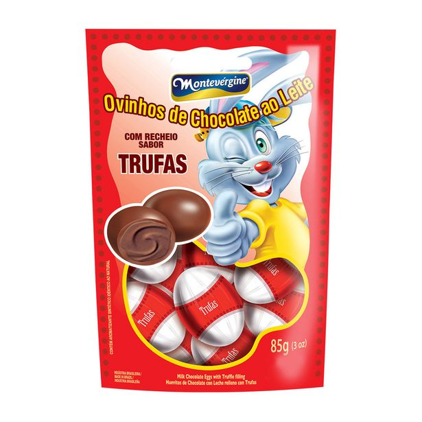 Oferta de Mini Ovos de Chocolate ao Leite Trufado Montevergine  85g por R$3,77