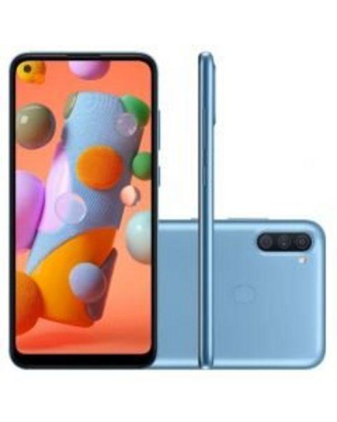 Oferta de Samsung Galaxy A11 64GB 3GB Ram Tela 6.4' Android 10 Octa Core Azul por R$1199