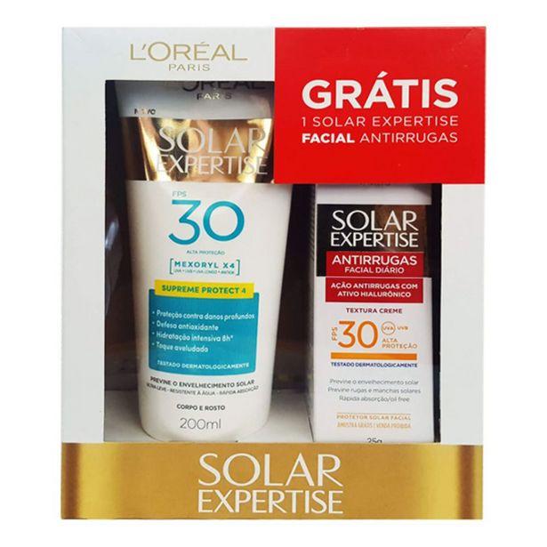 Oferta de Kit Loreal Protetor Solar Expertise FPS30 200ml + Protetor Solar Facial 25g por R$35,64