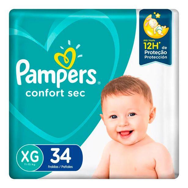 Oferta de Fralda Pampers Confort Sec XG 34 Unidades por R$39,9