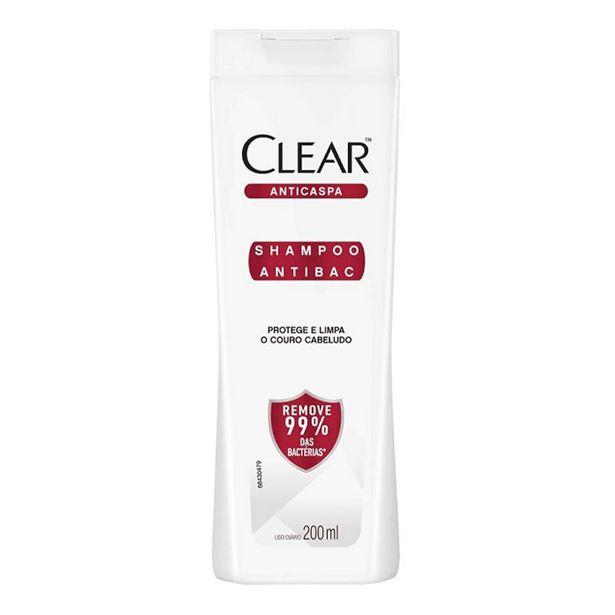 Oferta de Shampoo Anticaspa Clear Antibac 200ml por R$11,38
