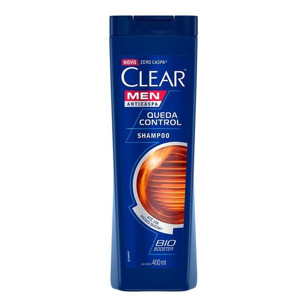 Oferta de Shampoo Anticaspa Clear Men Queda Control 400ml por R$17,18
