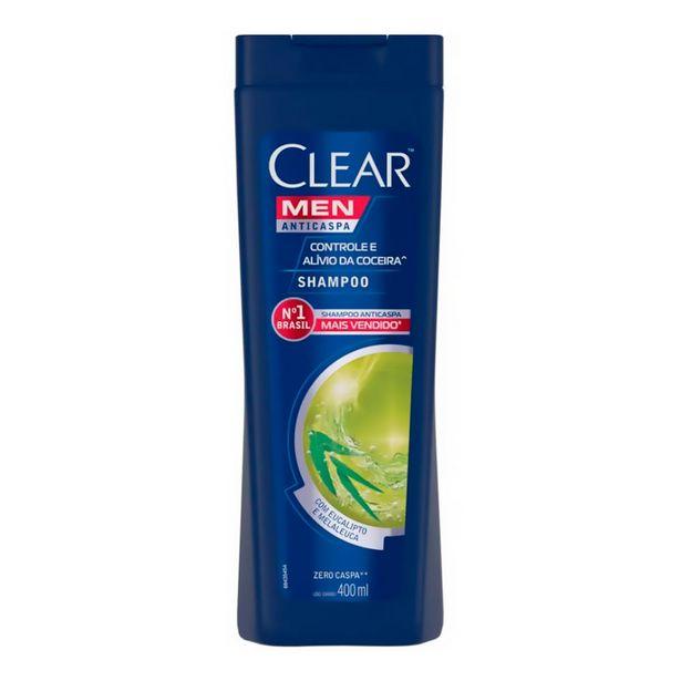 Oferta de Shampoo Anticaspa Clear Men Controle e Alívio da Coceira 400ml por R$17,18